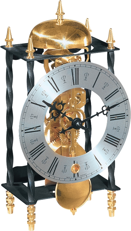 ムーブメントが見えるスケルトンデザイン!ヘルムレ(HERMLE)置き時計 Galahad2  22734 000701
